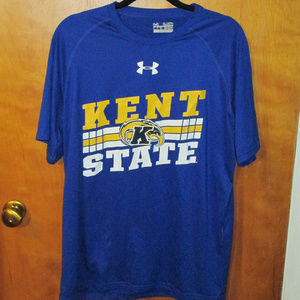 Under Armour Kent State Spell Out Blue Shirt M